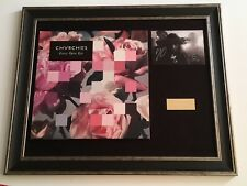 PERSONALLY SIGNED/AUTOGRAPHED CHVRCHES - EVERY OPEN EYE  FRAMED LP/PHOTO