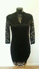 Stretch, Bodycon 3/4 Sleeve V Neck Petite Dresses for Women