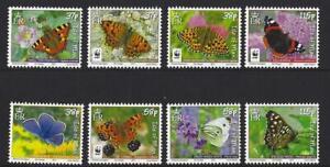 Île de Man 2011 Papillons Ensemble De 8 non Montés Excellent État , MNH