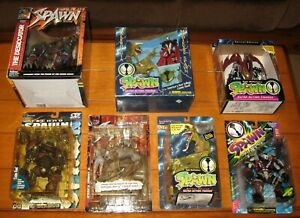 Spawn Action Figure Large lot ( 7 Different)W/RARE K-Mart Malebolgia/Spawn+++++