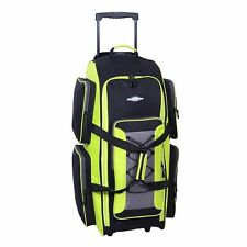 "NWT Destinations Luggage 32-in Wheeled Duffel Bag GREEN BLACK NEW 32"" Duffle L"