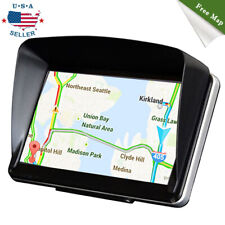 "8GB 7"" Touch Screen Truck Car GPS Navigation Navigator with Sun Shade Free Map"
