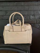 Marc Jacobs Empire City Quartz Handbag Pebble Leather Ivory Bisque