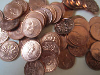 50 Coins Roll of 1946 Canada Small Cents