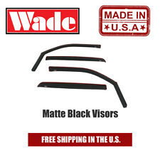 Matte Black Window Visors In-Channel Fits 2019-2020 Dodge Ram 1500 Crew Cab