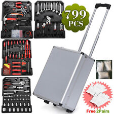 799pcs Tool Set Case Mechanics Kit Box Organize Castors Toolbox Trolley NEW