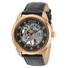 Invicta Men's Watch Specialty Black and Silver Semi-Skeleton Dial Strap 31309