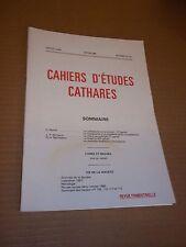CAHIERS D ETUDES CATHARES. IIe SERIE. N° 112 (1986) CATHARISME / ALBIGEOIS