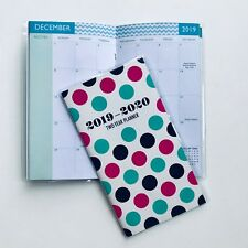 one 2019 2020 polka dot 2 two year planner pocket calendar organizer datebook