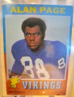 1971 Topps Alan Page Minnesota Vikings #71 Football Card