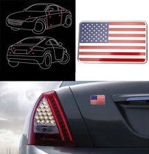 1* 3D Metal Sticker Car Decal Badge Emblem Adhesive Aluminium US American Flag