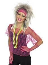 Pesce NEON Rete Camicia Taglia M 80s Party Costume Accessori