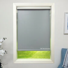Roller Shade 4ply Vinyl Blackout Grey Blind  Home Window Custom Made In Canada