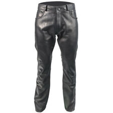 Richa Classic Leather Motorcycle Motorbike Jeans - Black 32