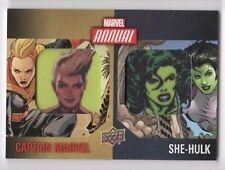 2016 Marvel Annual dual patch card DCP-1 Captain Marvel & She-Hulk