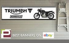 Triumph Bonneville Banner for Workshop, Garage, Man Cave, 1300mm x 325mm
