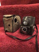 Antique Ensign Box Camera In Original Canvas Case.