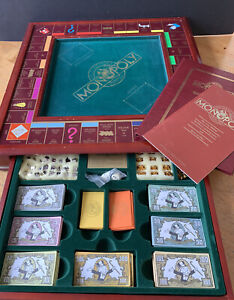Monopoly Collector's Edition 1991 Franklin Mint - Complete w/ Gold-Plated Tokens
