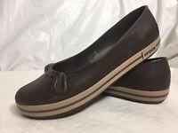 Crocs Crocband Ballet Flat Women's Size 10 Brown Slip On Shoes