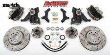Chevrolet C-10 1963-1970 5x4.75 Disc Brake Kit Cross Drilled 2.5 Drop Spindles