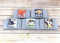 Nintendo N64 Games Battle Tank, Waialae CC, NFL & Nascar 99 Mission Impossible