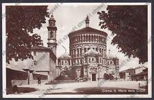 CREMONA CREMA 65 SANTUARIO S. MARIA DELLA CROCE Cartolina viagg. 1932 REAL PHOTO