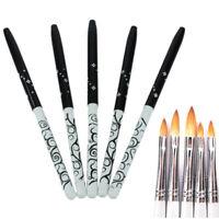 Acrylic Nail Brush Gel Polymer Art Pens Konlinsky Sable Hair Nail Art Tool #8#10