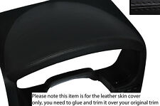 BLACK STITCH INSTRUMENT HOOD LEATHER SKIN COVER FITS FORD F150 F-150 2004-2008