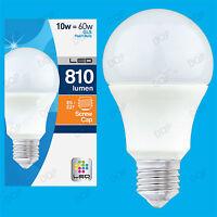 10x 10W LED Ultra Low Energy Instant On Pearl GLS Globe Light Bulb ES E27 Lamp