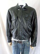CLAUDE MONTANA Pour Ideal Cuir vintage black lambskin leather jacket LARGE
