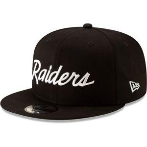 Las Vegas Raiders New Era 9FIFTY NFL Adjustable Snapback Hat Cap Script 950