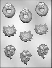 Christmas Assortment with Wreath #2 Candy Mold CK #4135 NEW