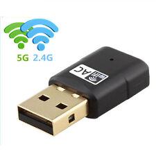Mini  600Mbps 11AC Dual Band 2.4GHz/5.8GHz Network Wireless USB WiFi Adapter