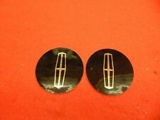"""2 NEW 60's 70's Lincoln Town Car 4"""" Wheelcover Spinner Center Decal Applique"""