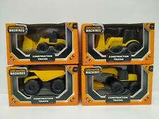 Toy Construction Trucks - Small Plastic Set of 4 - HTI Toys (Damaged Packaging)