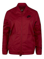 Nike Sportswear Women's Woven Jacket Ladies Nike Logo Jacket - Noble Red