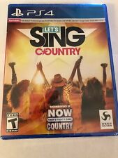 Let's Sing Country (PlayStation 4, PS4, 2019) - Factory Sealed