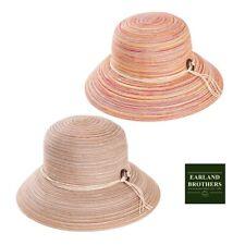 Ladies Packable Sun Hat Straw Cloche Hat Adjustable Size Big Brim Multi Colour