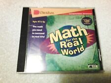 Math for the Real World by Davidson, Educational Math Cd-Rom Game, 1997