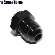 -6AN Male to Weld-On Bung Flare Hose End Fitting Adapter 0 Degree Black