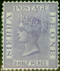 Sierra Leone 1876 1 1/2d Lila SG18 Fein MTD Mint