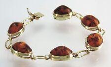 Vintage Armband mit Bernstein / 333er - 8 Karat Gelbgold  / 19,0 cm