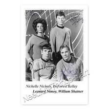 Star Trek / N. Nichols, DeForest Kelley, Leonard Nimoy, W. Shatner - Autogramm 