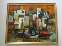 FINEST  Hsing-Sheng Yang  (1938 - 2013) PAINTING VINTAGE CHINESE ABSTRACT MODERN