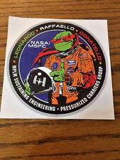 "NASA TMNT Ninja Turtle Raffaello MPLM Multi-Purpose Logistics Module 5"" Sticker"