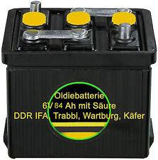 6 Volt 84 Ah Oldiebatterie Oldtimer Batterie Startbatterie Trabbi Wartburg IFA