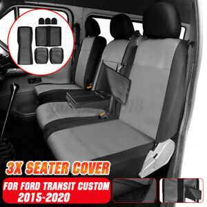 2+1 Fundas Asiento Coche For Ford Transit Custom 2015 2016 2017 2018 2019 2020