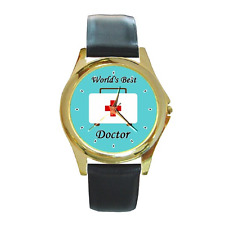 WORLD'S BEST DOCTOR MEDICAL DR ROUND WRISTWATCH **LOVELY GIFT ITEM**