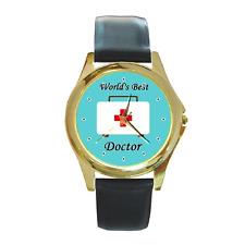World's Best dottore medico DR Round Orologio da polso ** delizioso articolo da regalo **