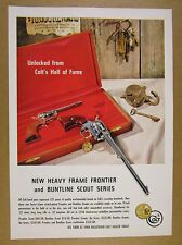 1961 Colt Heavy-Frame Frontier & Buntline Scout 22 Revolvers vintage print Ad